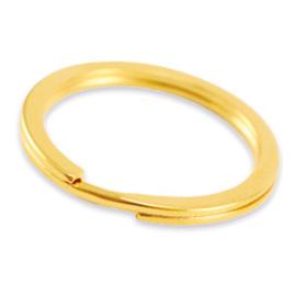 Sleutelhanger 30mm RVS goud (nikkelvrij)