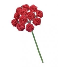 Mini rozen rood