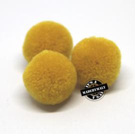 pompom mosterdgeel * 15 mm - per 10 stuks