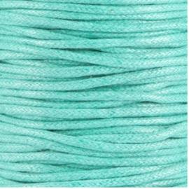 Waxkoord aqua groen2 mm. dik, per meter