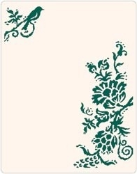 Rustic flowers  Ink it`s letterpress plate - Sizzix * 657075