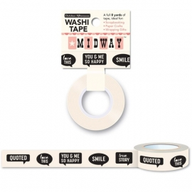 Word bubbles washi tape - October Afternoon * MW-WEM - 998