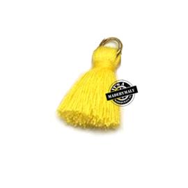 Ibiza style kwastje 2cm goud geel