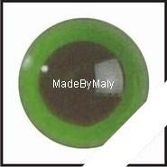 1 paar poppen ogen - veiligheids ogen 8 mm. groen