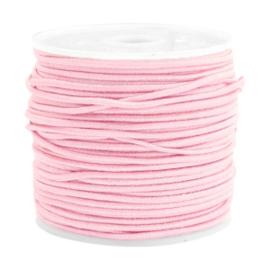 Koord elastiek 1,5 mm. licht roze, per meter - elastisch koord