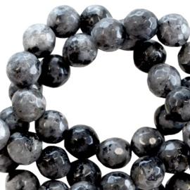 Glaskraal 8 mm Design Quality marmer natuursteenlook Grijs-zwart