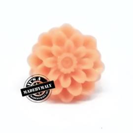 Dahlia bloem kraal 13mm zalm
