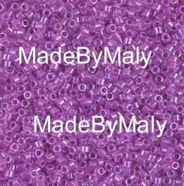 Miyuki Delica's 11/0 magenta lined crystal AB DB0073