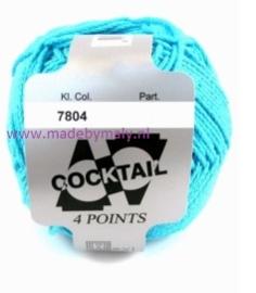 Cocktail midden azuurblauw  * Scheepjes 7804