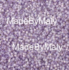 Miyuki Delica's 11/0 silver lined lavender alabaster DB0629