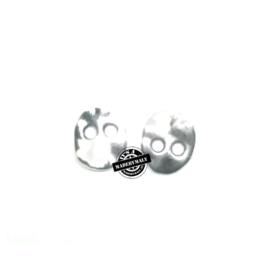 Metalen knoop 13x11 mm, 2 gaten