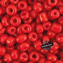 Glaskraal Rocailles 6/0 (4mm) fel rood