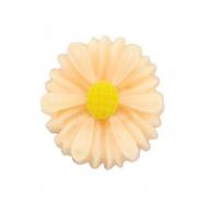 Madelief bloem kraal 13 mm perzik