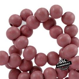 Houten kraal 8 mm. Marsala pink roze
