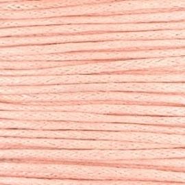 1 mm Waxkoord Pastel coral peach