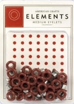 3/16 eyelets cranberry ong. 50 stuks - American Crafts * AC83342