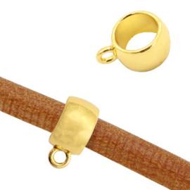 Metalen schuiver met oog Ø5,6mm  goud (nikkelvrij)
