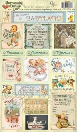 Heartwarming vintage cuts welcome to babyland - Crafty Secrets * 00703