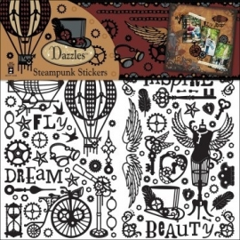 Dazzles steampunk stickers black - Hot off the press *5827