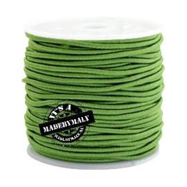 Koord elastiek 1,5 mm. groen, per meter - elastisch koord