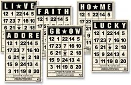 Mini bingo cards vintage - Jenni Bowlin * BC304