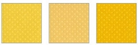 Klein setje dotted swiss cardstock honey trio - Bazzill