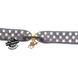 Kinderarmband - haarelastiek hertje (elastisch)