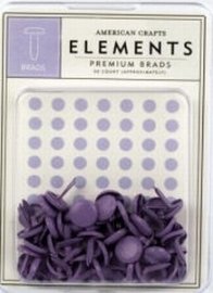 Medium brads lavender - American Crafts * AC 85072