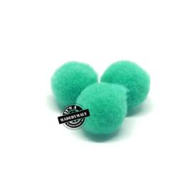 pompom blauwgroen * 10 mm - per 10 stuks