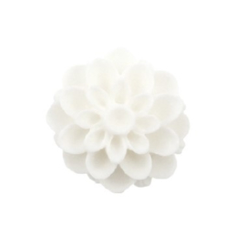 Dahlia bloem kraal 13mm wit