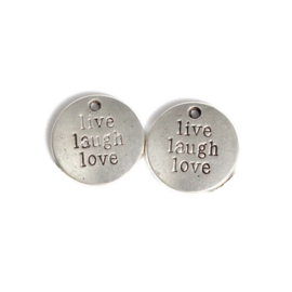 Metalen bedel - live laugh love
