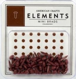 Minibrads cranberry - American Crafts * AC8483