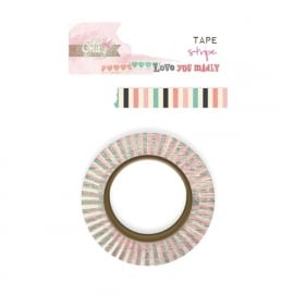 Washi tape Love you madly stripe - Glitz Design * WT 410