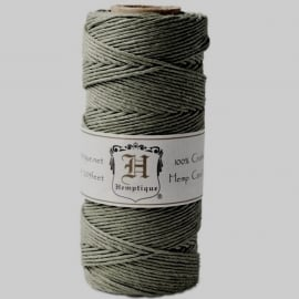 Hemp cord (hennep) olive  1,5 mm. dik - Hemptique * 33378