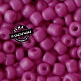 Glaskraal Rocailles 6/0 (4mm) carmine roze