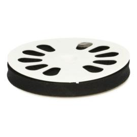1 meter Dox biasband katoen zwart 12mm breed - 000