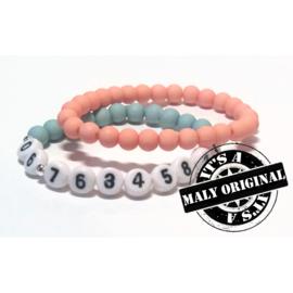 Zelfmaakset: sos armband  en uni armbandenset  (2 armbanden)  Kies zelf je kleuren