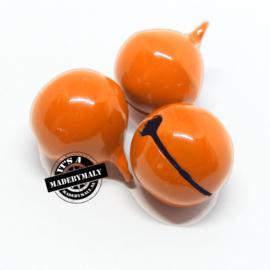 Gesloten belletje 13 mm. oranje - per stuk