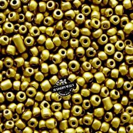 Glaskraal Rocailles 12/0 (2mm) metallic goud