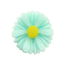 Madelief bloem kraal 13 mm mint
