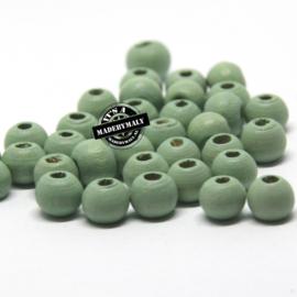 Houten kraal 6 mm rond meadow green