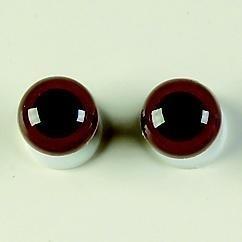 1 paar poppen ogen - veiligheids ogen 8 mm. bruin