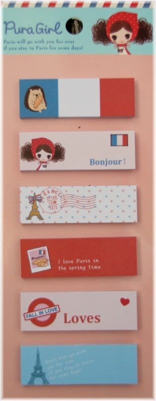 Bonjour sticky  notes - Pura girl