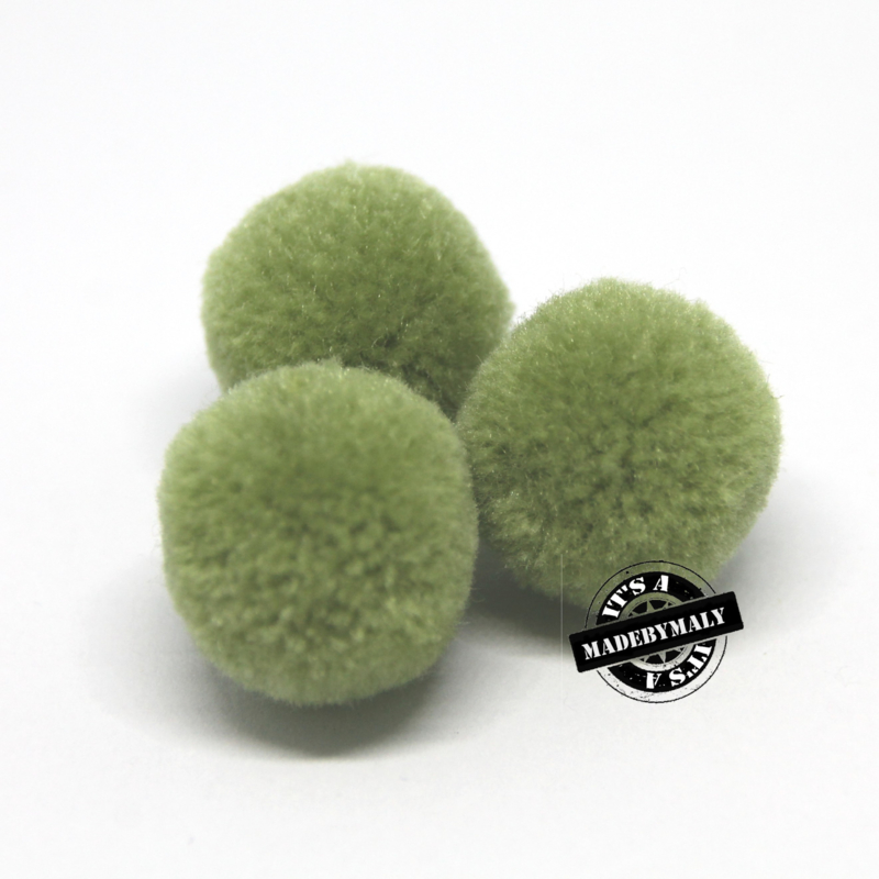 pompom mosgroen * 20 mm - per 10 stuks