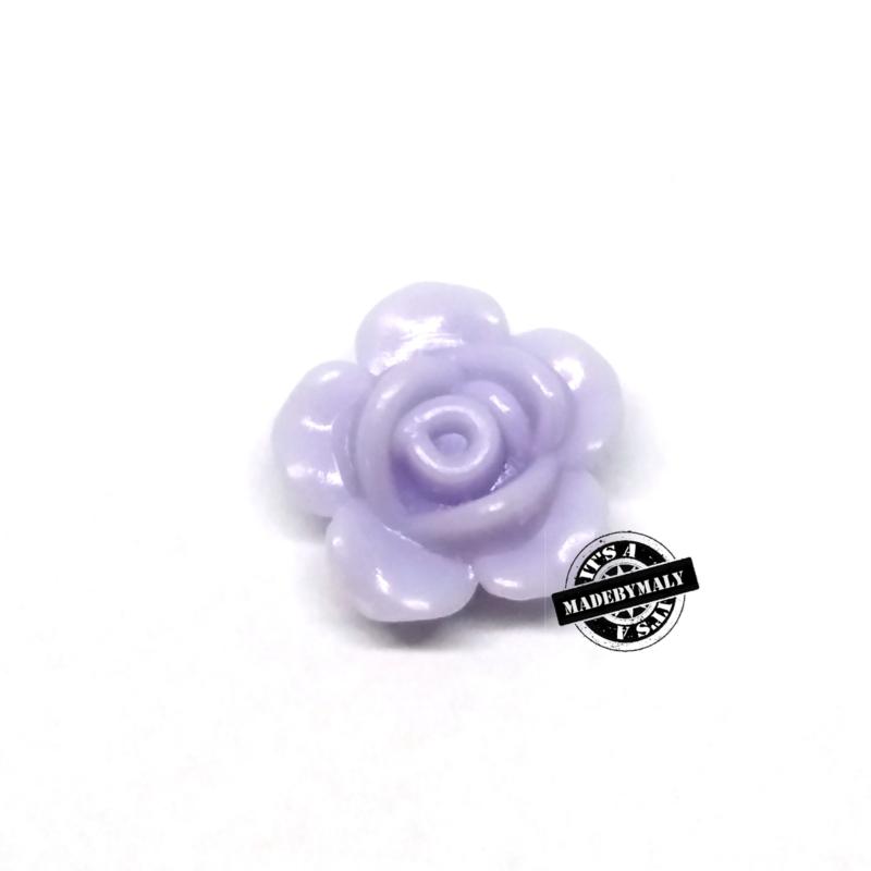 Roosje kraal 13 mm lila