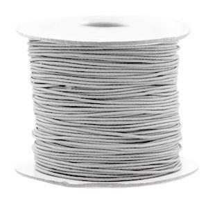 Koord elastiek 0,8 mm. lichtgrijs, per meter - elastisch koord