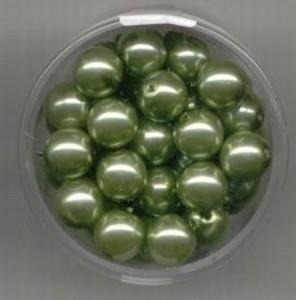 parel-kralen lime-groen 8 mm. - Make Me * 117472/3170