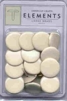 Large brads vanilla - American Crafts * AC85102