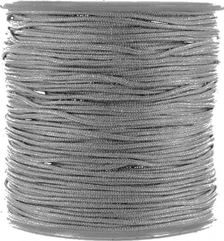 Draad macramé 0.8mm donkergrijs, 5 meter