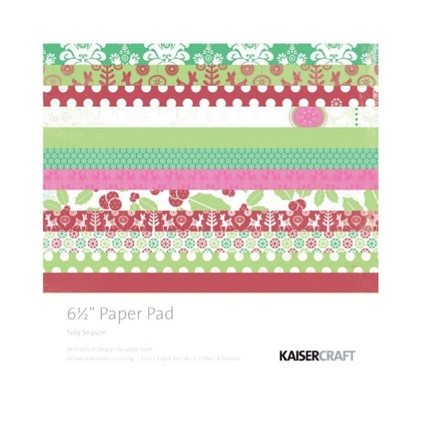 Silly Season Paperpad 15x15 cm. - Kaisercraft * PP851